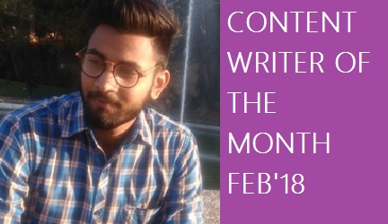 Content Writer of the Month February 2018