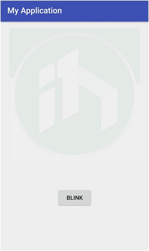 Blink image for an infinite count in Android (animation)