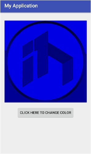 How to change image view color using bitmap in Android?
