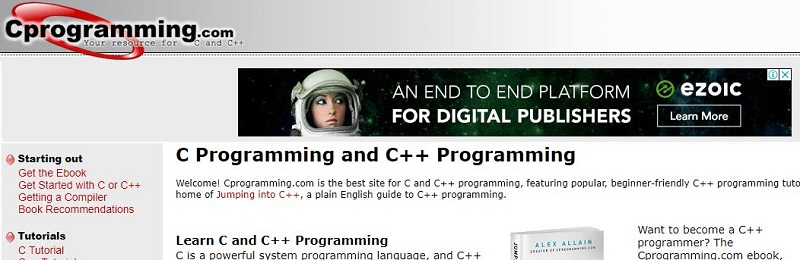 Top websites for learning C programming language - cprogramming fcdda6a4286