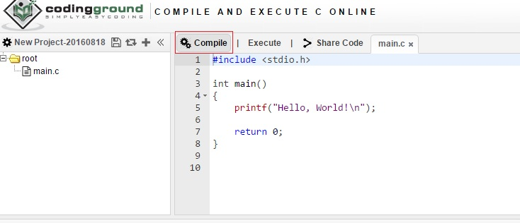 Compile and Execute C++ Online